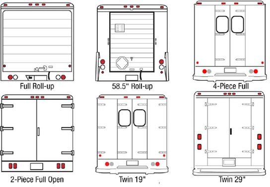 images ford cargo van back doors