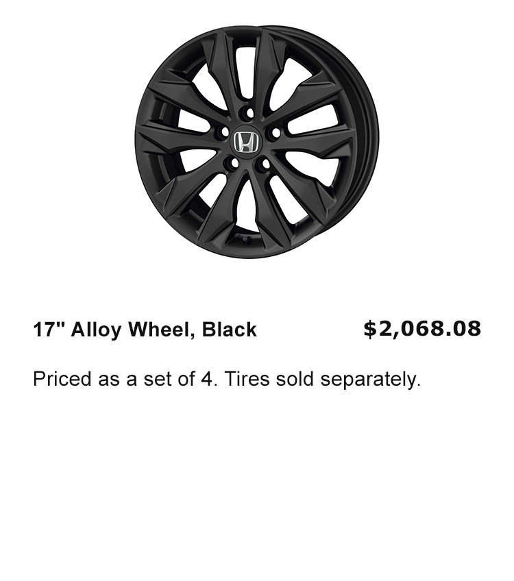 "17"" Wheels Black"