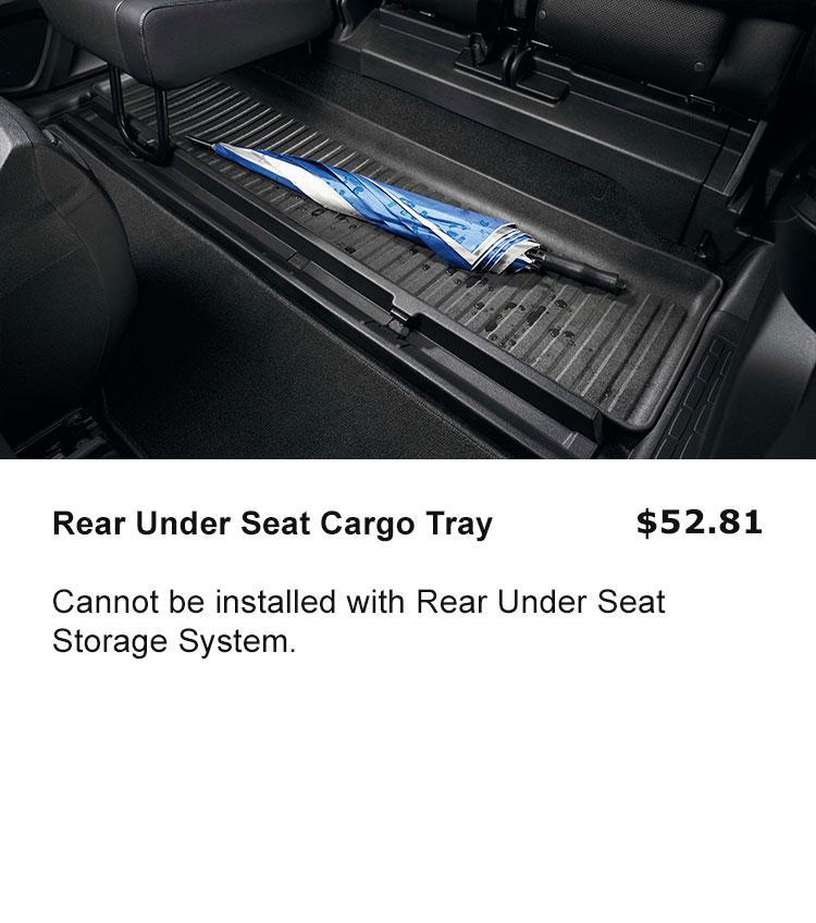 Rear Under Seat Cargo Tray
