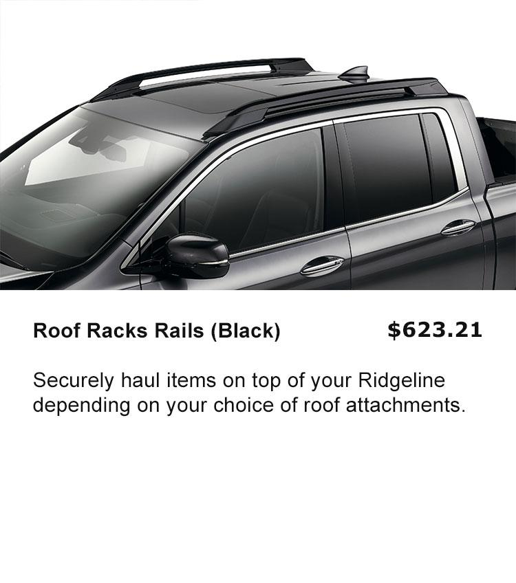 Roof Rack Rails - Black