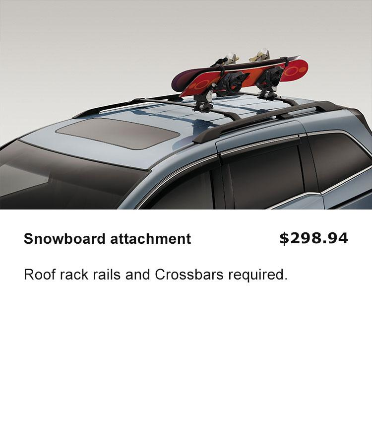 Roof Rack Snowboard Attachment