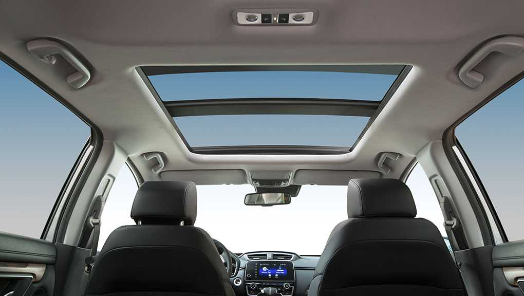 honda crv view from back seat