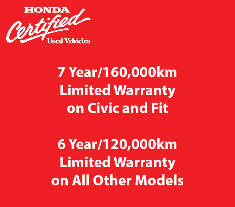 Honda Certified Used Warranty