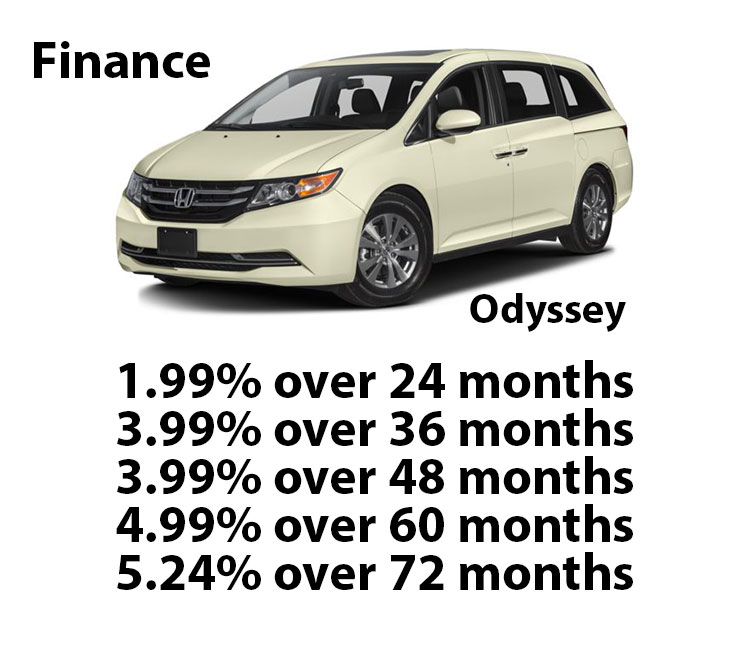 Honda Certified Odyssey Finance Rates