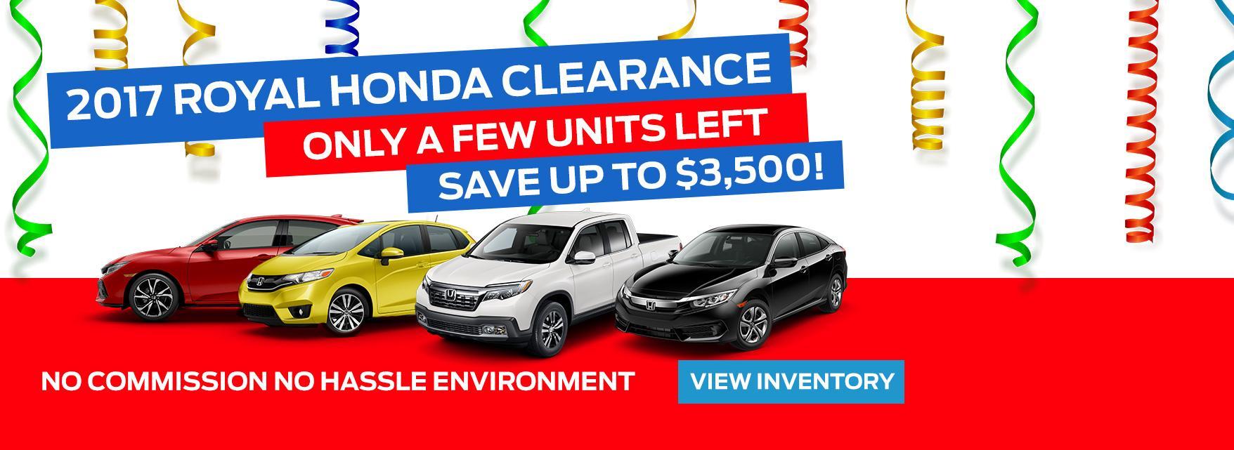 2017 Royal Honda Clearance