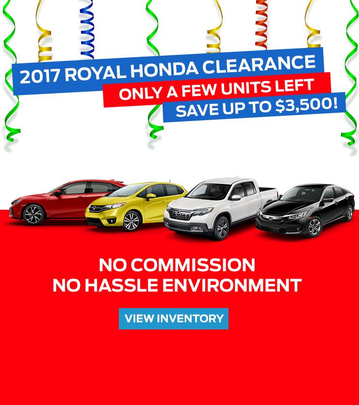 2017 Honda Clearance at Royal Honda