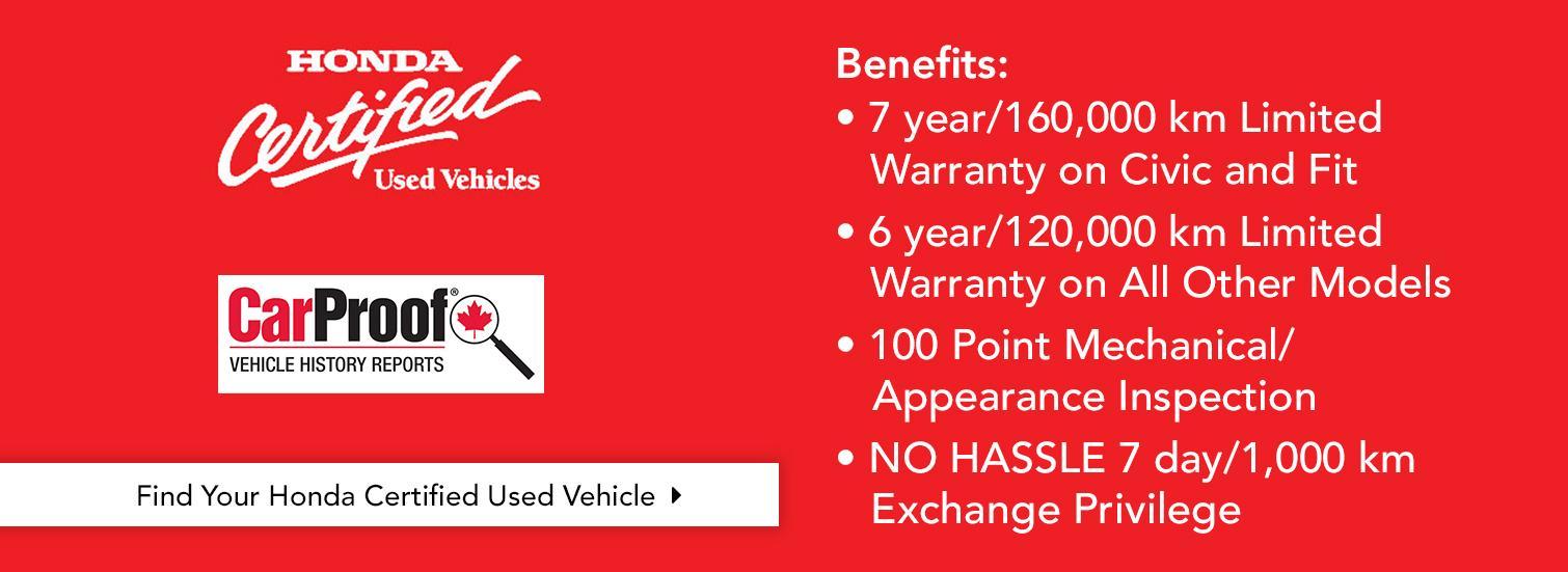 Honda Certified Pre-Owned