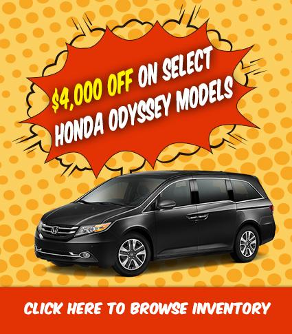 $4000 Off select Odyssey models