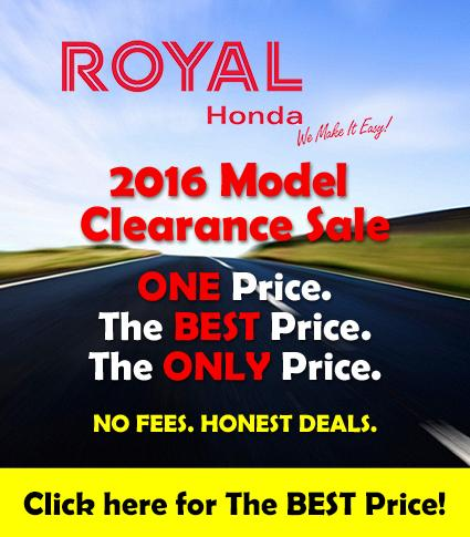 2016 Honda Clearance at Royal Honda