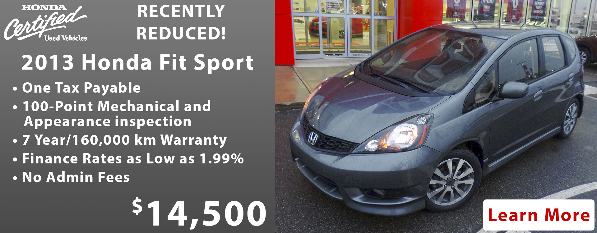 Welcome to royal honda we make it easy for Certified used honda fit