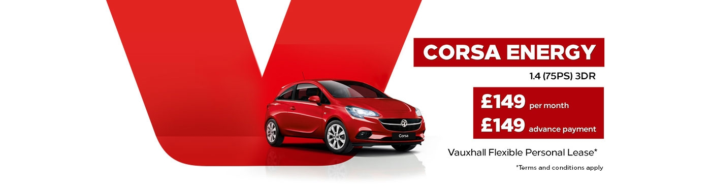 £149 per month Vauxhall Corsa Energy Contract Hire offer