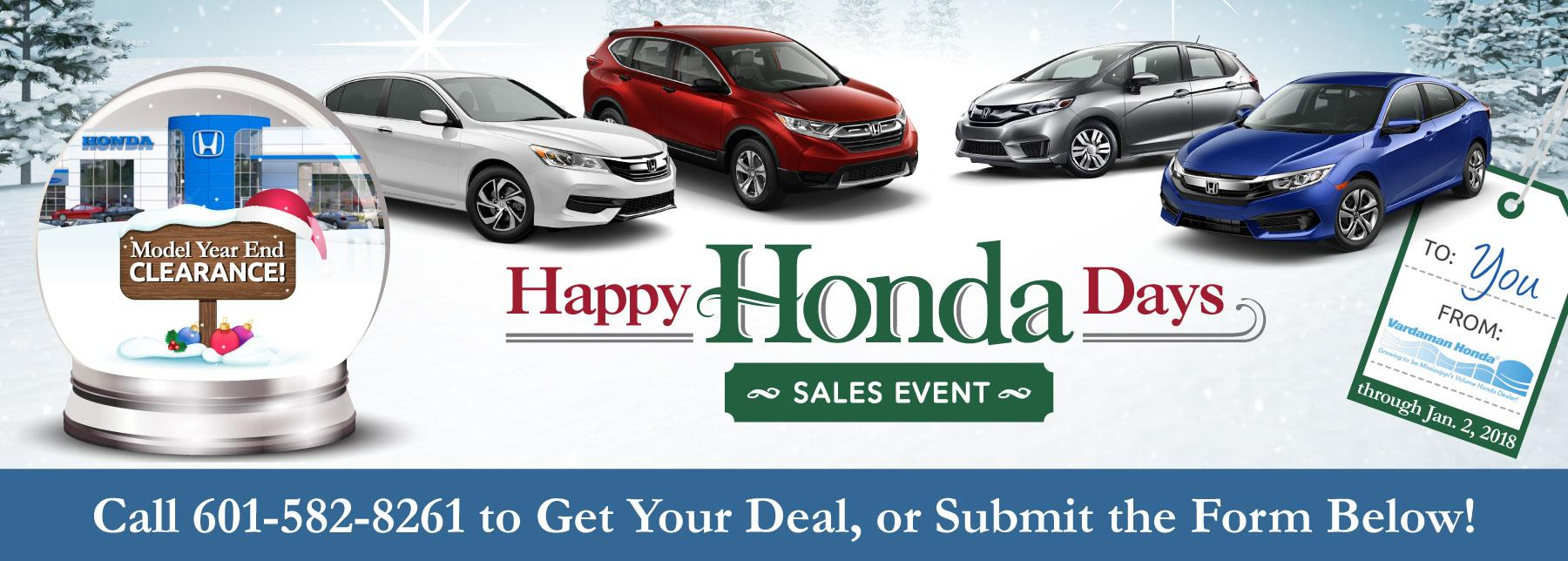 Happy Honda Days >> Happy Honda Days