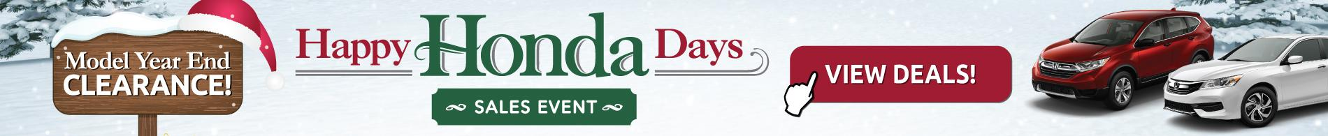Happy Honda Days Going on Now!