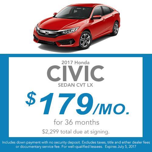 Civic Sedan Lease Offer
