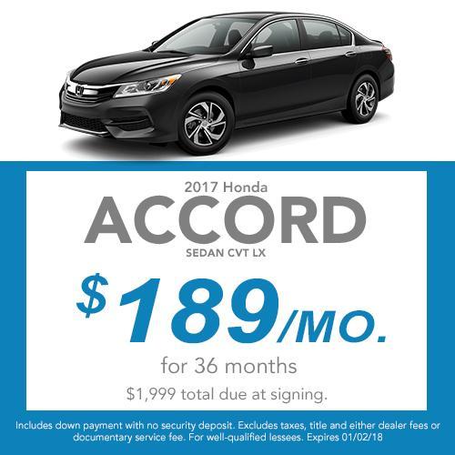 Accord Sedan Lease Offer