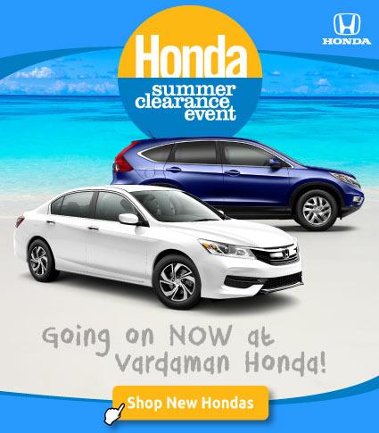 Honda Summer Clearance Event now at Vardaman Honda
