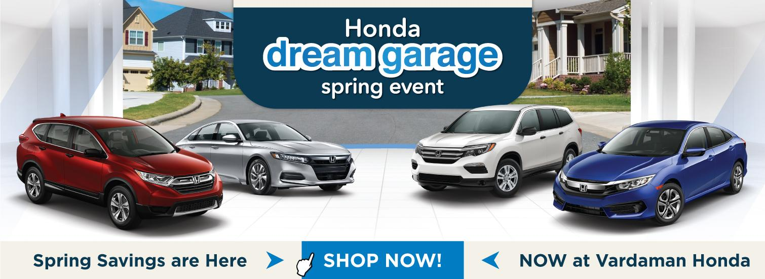 Dream Garage Sales Event at Vardaman Honda