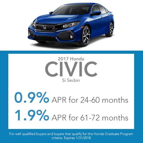 Civic Si Sedan Finance Offer