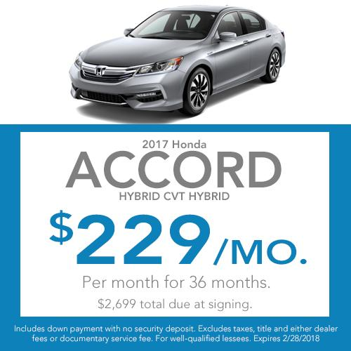 Accord Hybrid Lease Offer