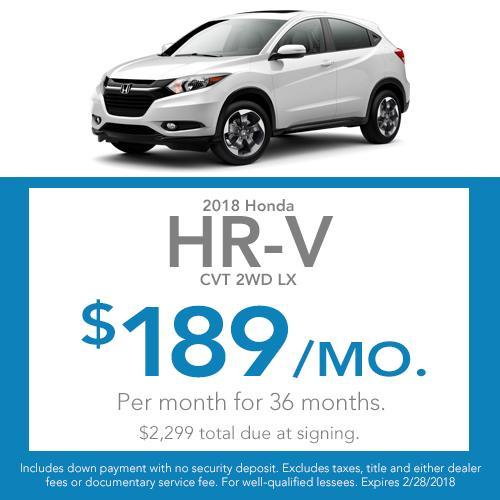 HR-V Lease Offer