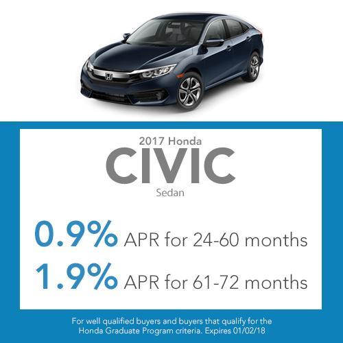 Civic Sedan Finance Offer