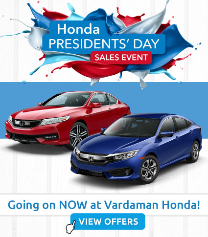 Presidents Day Sales Event at Vardaman Honda