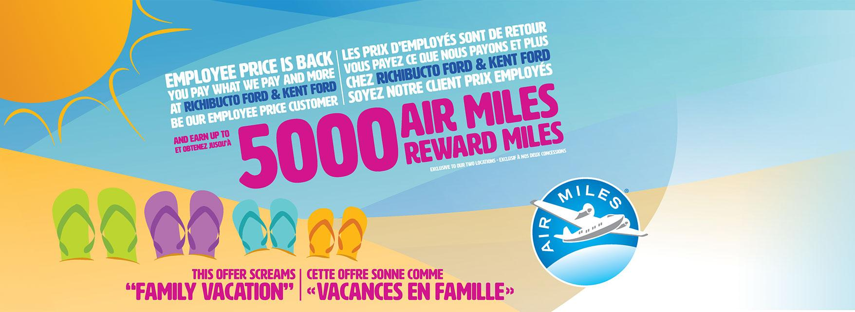 Air miles Ford Employee Pricing Richibucto Motors