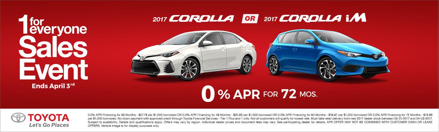 2017 Toyota Corolla APR Special