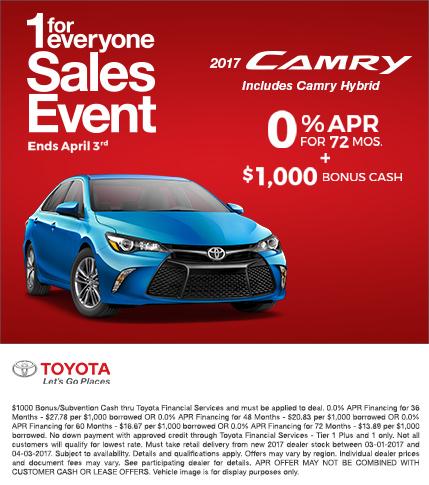 2017 Toyota Camry APR Special