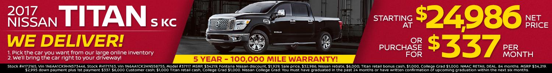 2017 Nissan Titan Offer