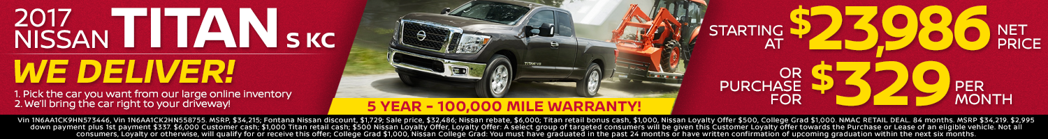2017 Nissan Titan Offer