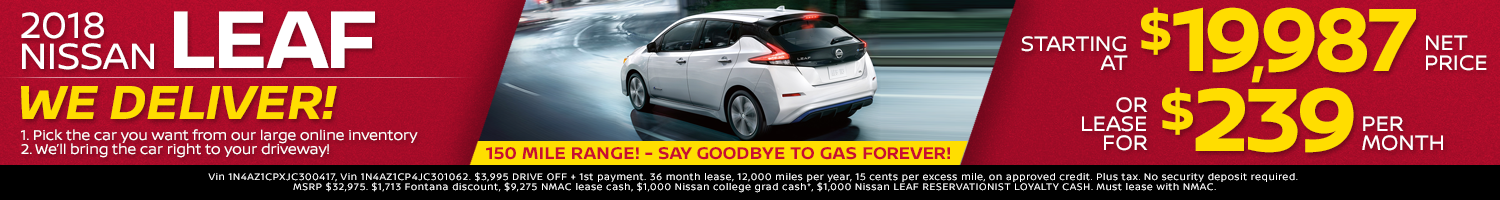 2018 Nissan Leaf Offers
