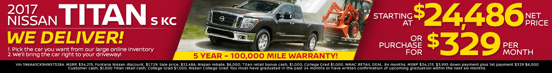 2017 Nissan Titan Special