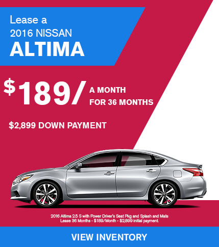 Lease a 2016 Nissan Altima