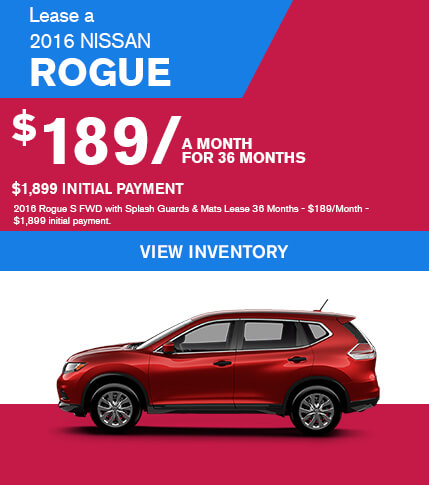 Lease a 2016 Nissan Rogue