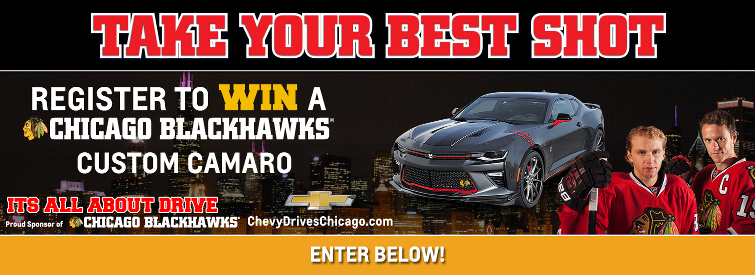 Blackhawks Chevrolet Camaro Giveaway   Chevy Drives Chicago