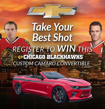 Bill Kay Chevrolet >> Blackhawks Chevrolet Camaro Giveaway | Chevy Drives Chicago
