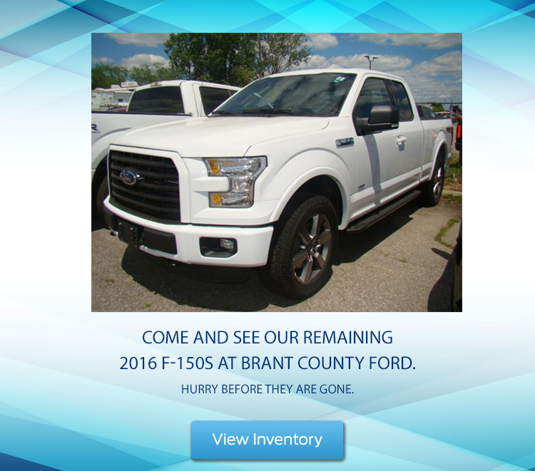 Brant County Ford - Remaining F-150s for Sale