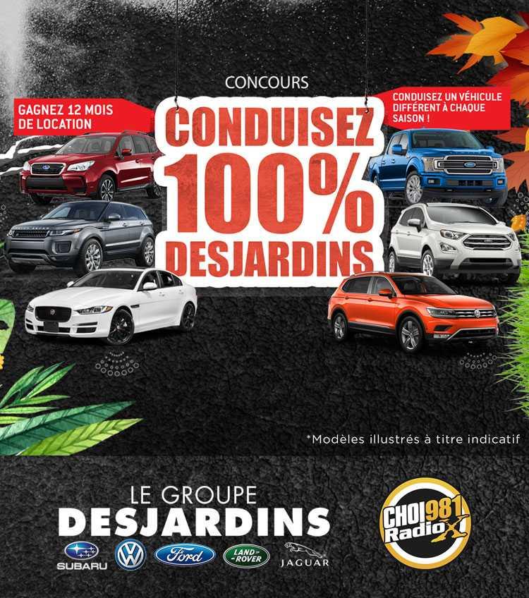 Concours - Conduisez 100% Desjardins