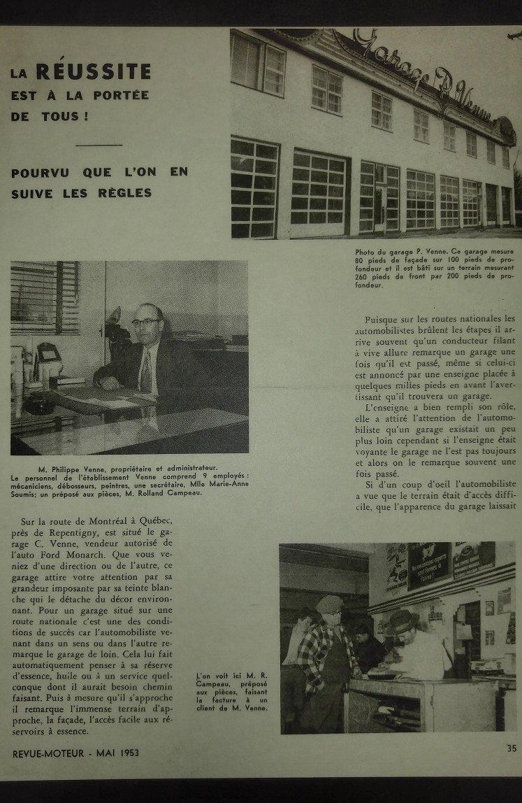 1953 entrevue dans le journal