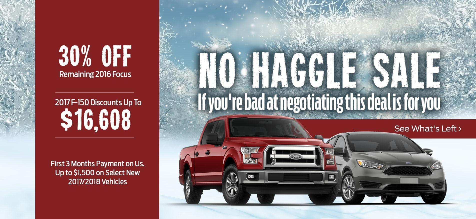No Haggle Sale