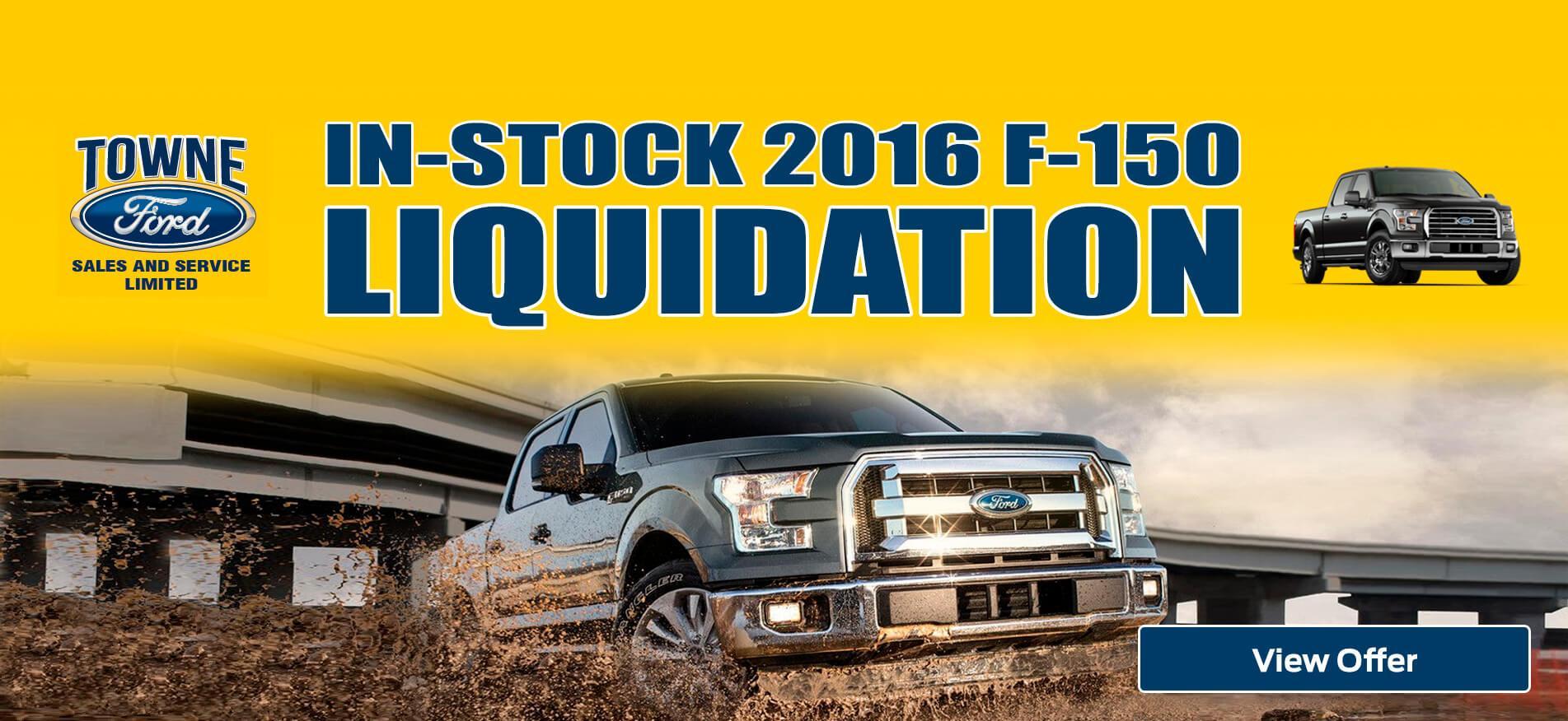 F-150 liquidation Towne Sales Ford