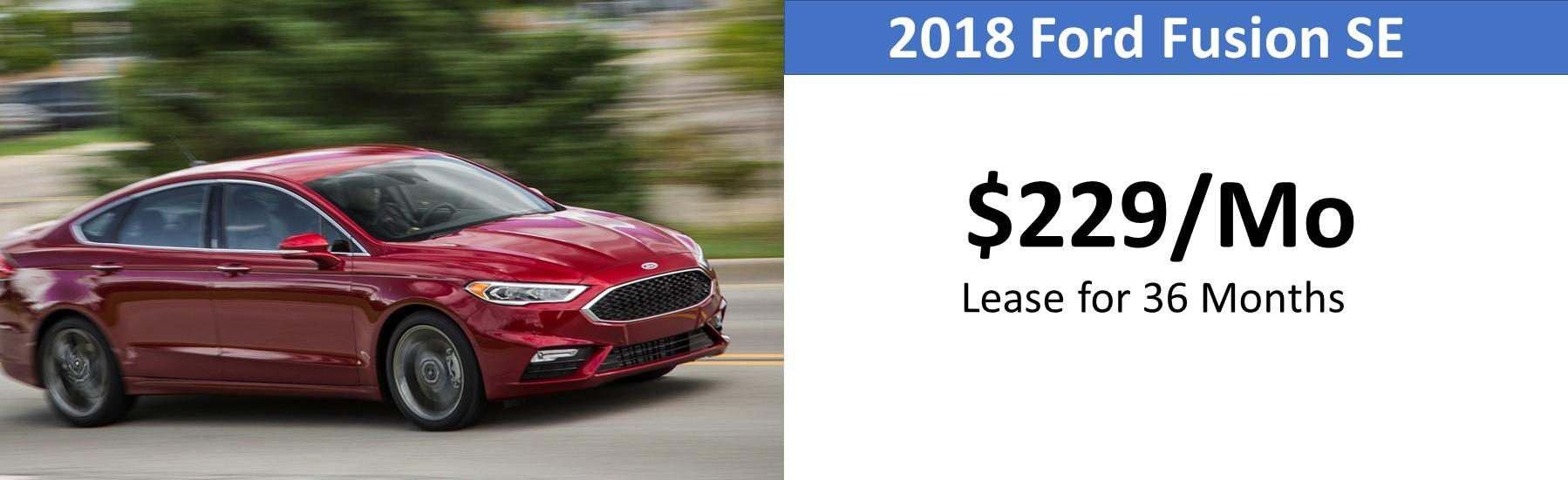 Lansing Ford Fusion Lease Special