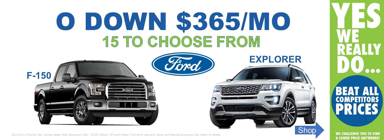 Lansing F-150 and Ford Explorer Lease Specials