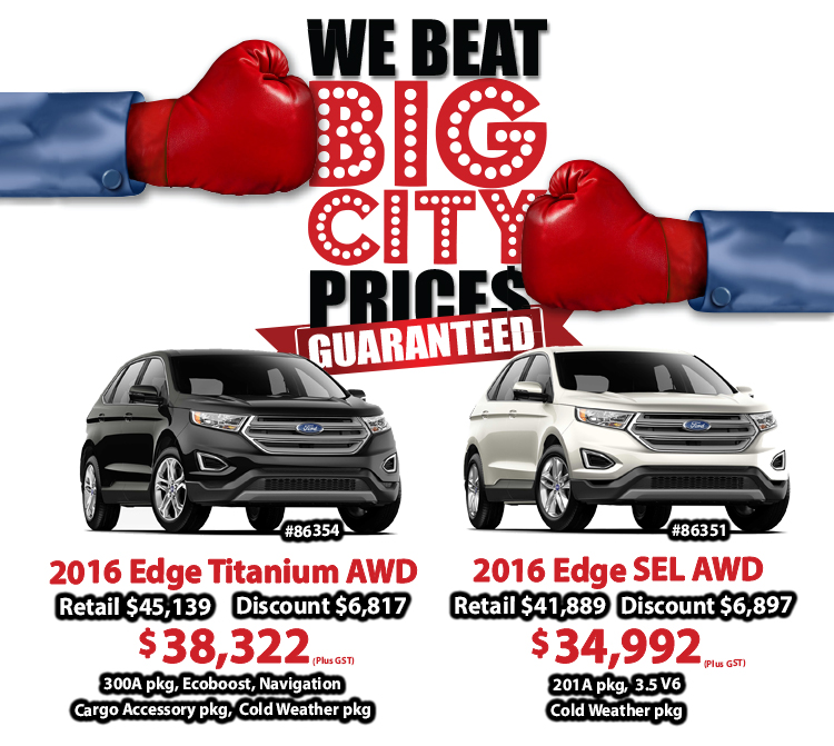 Vegreville Ford Edge Discount