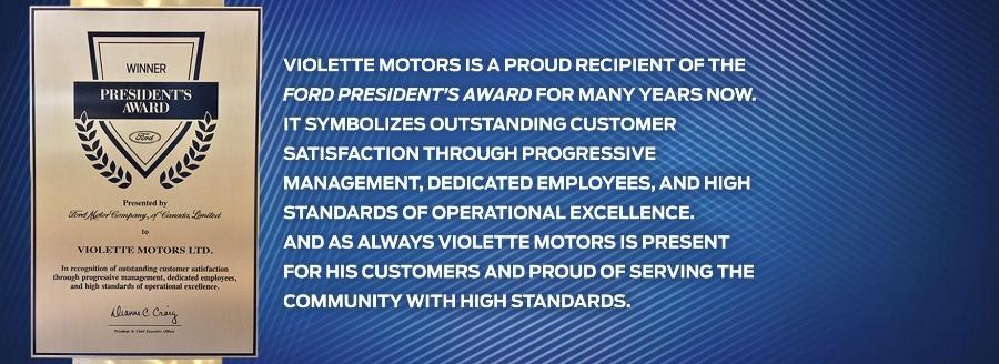 President's Award Violette Motors