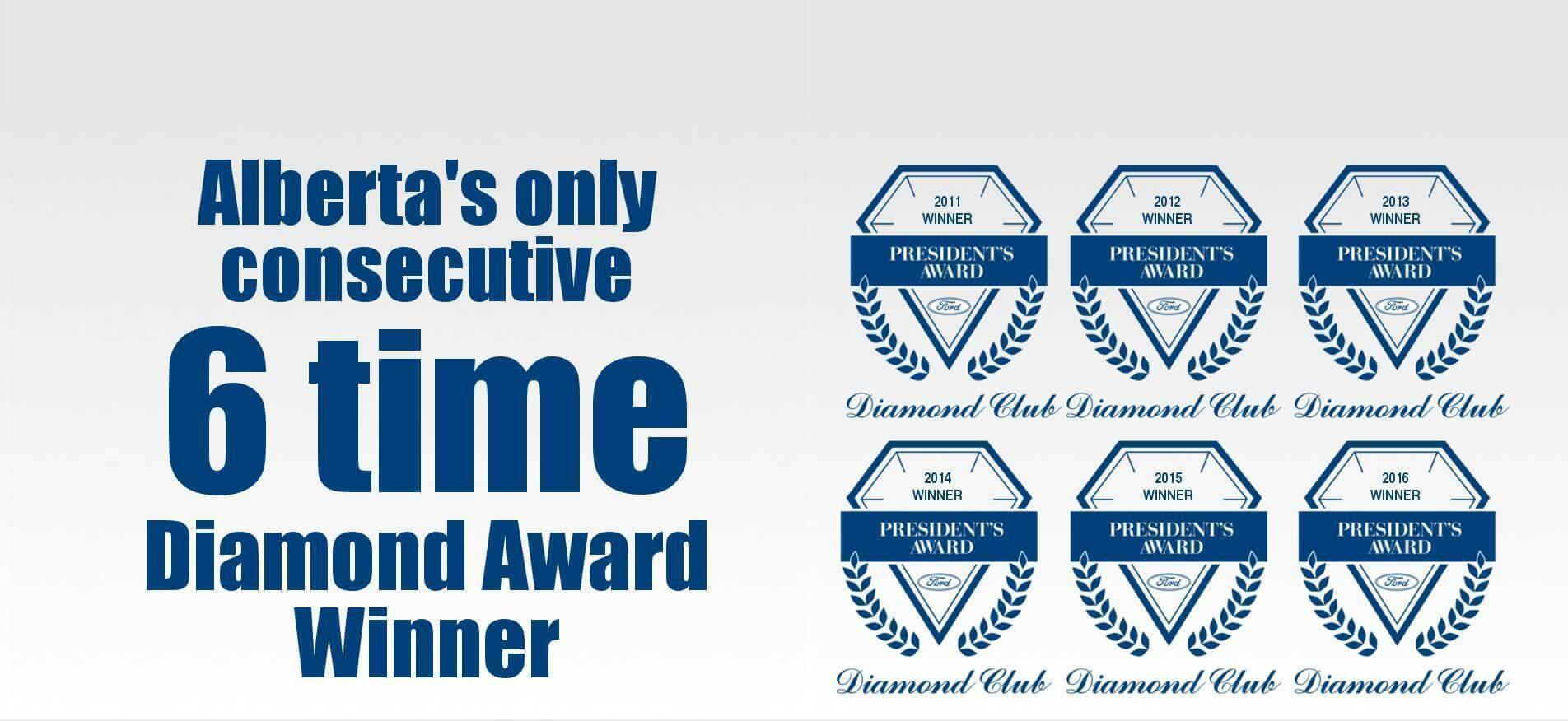6 Time Diamond Award Winner