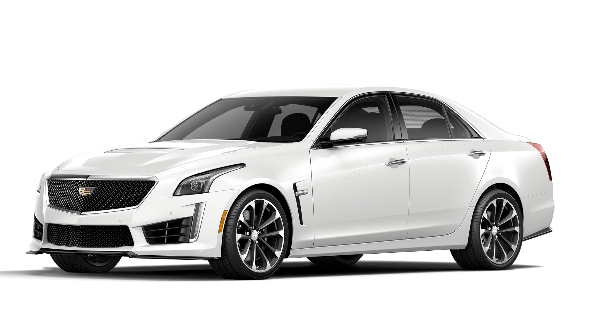 Crystal White Tricoat Cadillac CTS-V