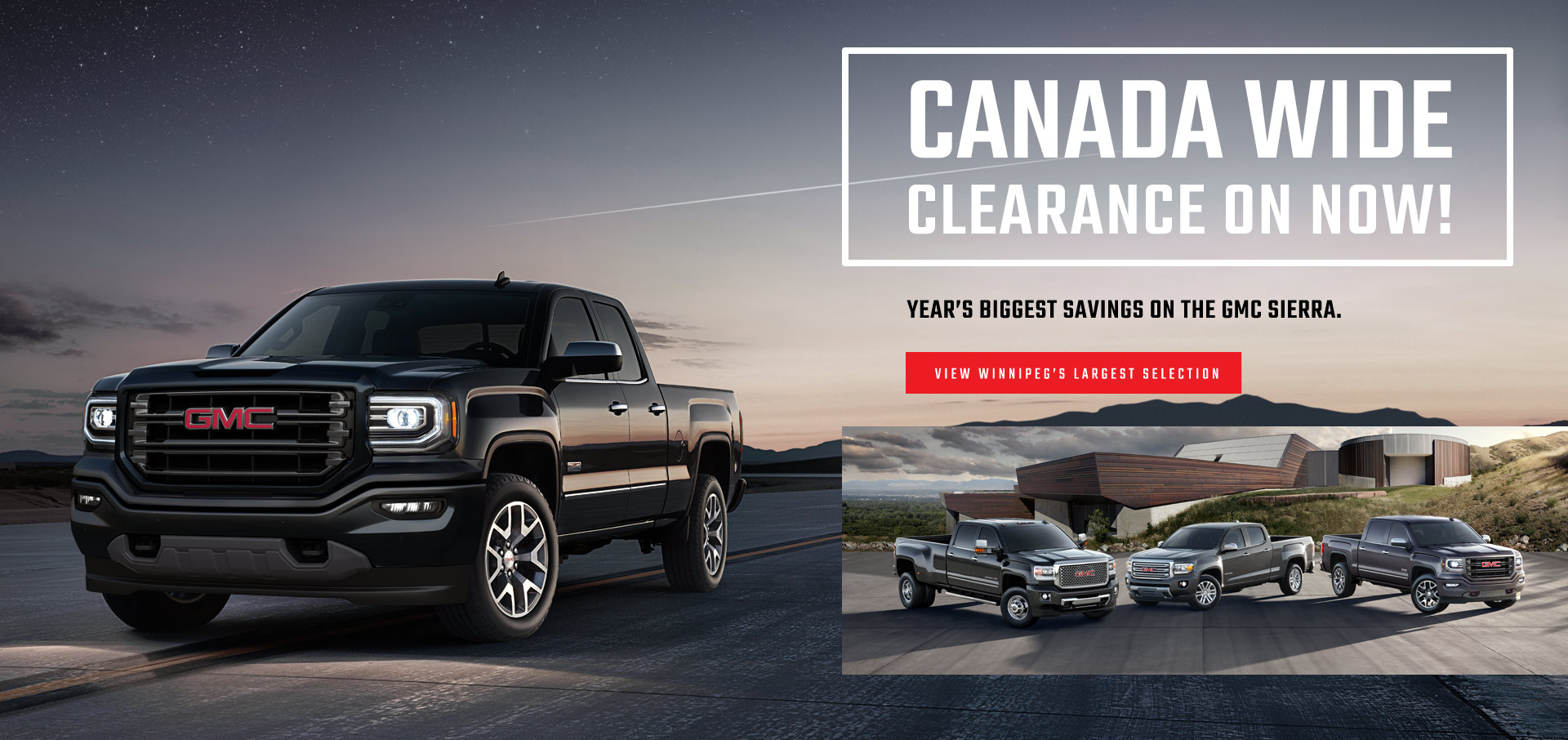GMC Winnipeg Dealership Sale Event