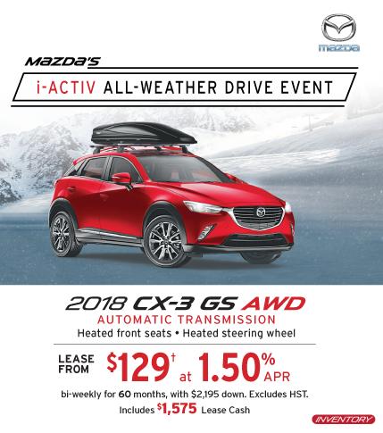 2018 CX-3 Markham Mazda Deals